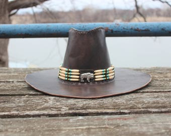 Hombre Leather Hat