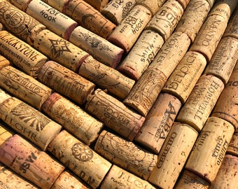 Bulk Set 100 Variety Winery Wine Corks Cork Used Red White Wines Recycled Up-Cycled Crafts DIY Wedding Gift Place card Holder Arts Vintage