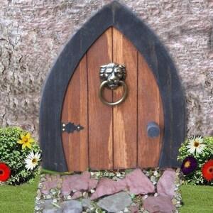 Gnome doors Fairy Doors Faerie Doors Elf Doors 9 inch with Lion & Faerie door   Etsy