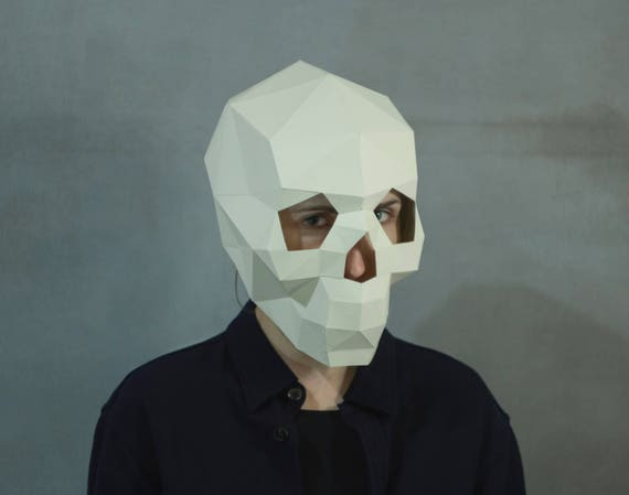 Make Skull Mask3D maskFacePDFPattern masksPolygon DIY