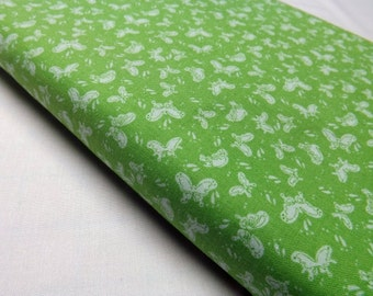 Bubbles and Butterflies  6202-68  Lime Green Kids Quilting Sewing Fabric Butterfly Print Lyndhurst Studio