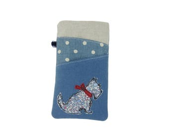 iPhone 7 Case, SE iPhone Pouch, 8 Plus Sleeve, Scottie Dog, iPhone X Case, iPhone 8 Sleeve, iPhone 7 Plus Case, Dog Lover Gift