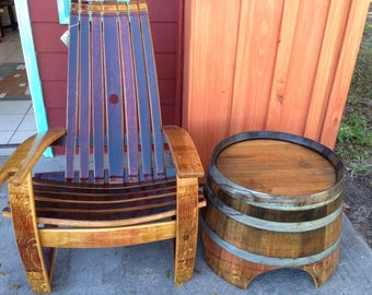 Wine Barrel Chairs - Whiskey Barrel Chairs - Comfortable Adirondack Chairs Southeast delivery only