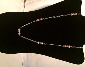 Pearl Bead and Chain Necklace