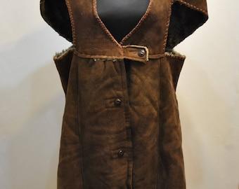 Vintage HANDMADE LAMBSKIN vest , women's coat ...............(590)