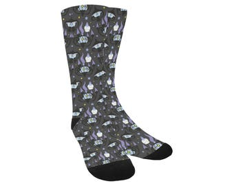 Chandelure Socks - Pokemon Socks Litwick Socks Lampent Socks Ghost Pokemon Evolutions Socks Trouser Socks Oddity Apparel