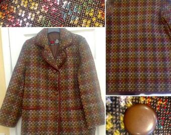 1960s Welsh Wool Tapestry Coat!