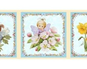 Fabric patchwork/decoration FRIEZE D ANGELS 1