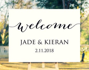 18x24 wedding welcome sign template editable