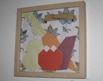 Origami folding coloring decoration frame wall House Gift paper
