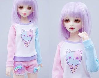 Slim MSD Minifee or SD BJD Sweater - Ice Cream Neko