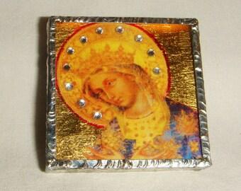 Sparkling Virgin Mary Pin & Pendant Icon inv1822