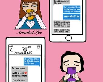 "A modern day take on ""Annabel Lee"" PRINT"