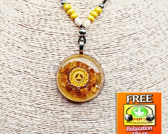 Orgone Pendant for The Law of Attraction Boost, Wealth and Abundance Attraction, Self-Worth, Self-Confidence and Self-Esteem.