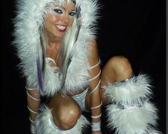 Winter White Rave Costume