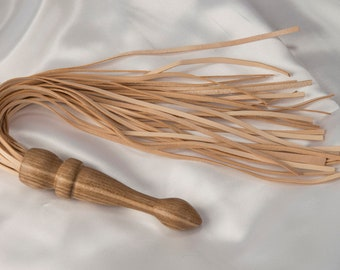 Flogger the oak and calf wood, handmade 100% made in Italy