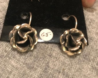 Handcrafted Sterling Silver Rose Earring