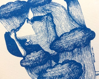 Hong Kong Weatherman Freddy - Illustration available in postcard, greeting card and original art prints