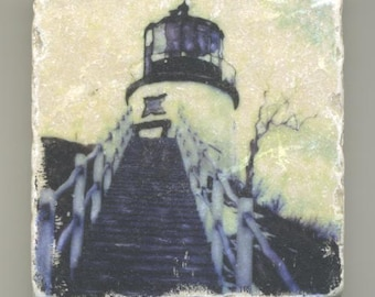 Owl's Head Lighthouse in Maine Original Coaster