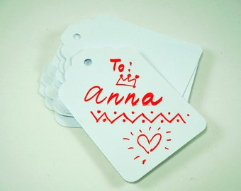 Reusable Tags, White Board Tags, Reusable Label Tags, Gift Tags, White Tags, Whiteboard Tags, Rewritable Tags, White Board Marker Tags 15pcs