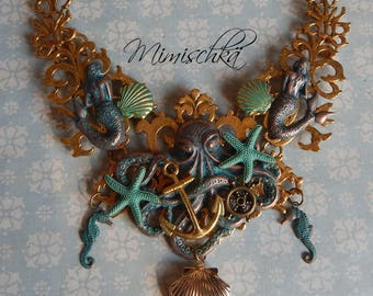 necklace octopus mermaid queen of the seas
