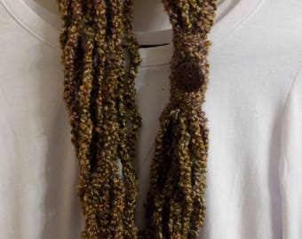 Hand-Crocheted Scarf/Necklace