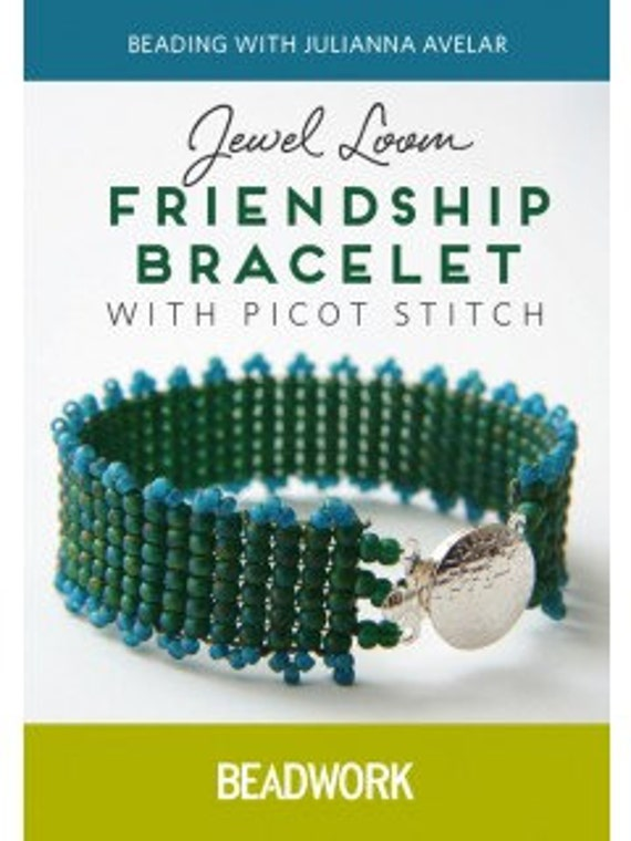 How to Beading Video Jewel Loom Friendship Bracelet with Picot Stitch by Julianna Avelar