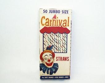 NOS Carnaval 50 pailles géantes des années 1950 National Soda paille Co. Chicago Ill.