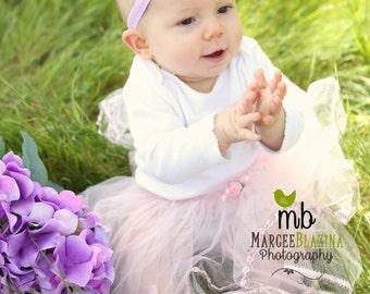 Baby Headband/Sandals Set ~ Barefoot Sandals ~ Lavender Flower Sandals ~ Flower Headband and Sandals ~ Flower Sandals ~ Flowergirl sandals