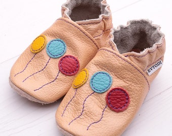 Baby shoes, Leather baby shoes Soft sole kids shoes, Boys, Baby moccasins leather, Girls, Infant baby shoes, Baby booties, Balloons, Evtodi