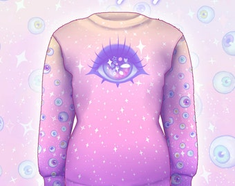 """Pink """"Starry Eyes"""" Sweater"""