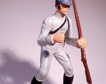STARLUX - Civil war - Confederate soldier with rifle - Vintage - 70's
