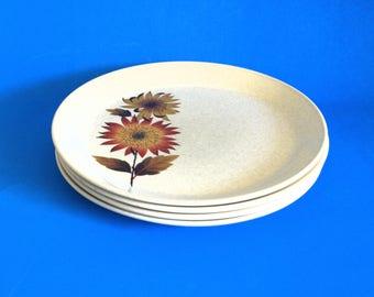 Johnson of Australia Tonga Sunflower Dinner Plates - Set of Four Retro Vintage 70s - Autumn Pattern - Made in Australia & Johnson of australia | Etsy