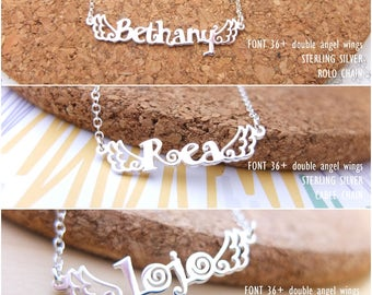 Personalized Name Necklace-Custom Name Necklace-Custom Name Gift-Your Name Necklace-Bridesmaids Jewelry-Children Names-Birthday Gift. #NF36W