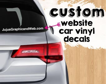 Custom Website Url Decal