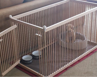 2u0027x4u0027 Solid MAPLE Dog Crate, USA Made, Waterproof Snap