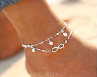 Pearl Anklet in Gold or Silver