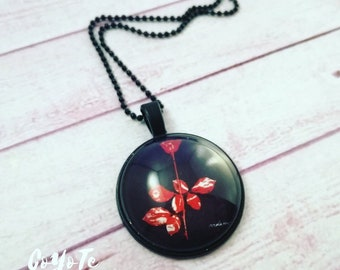 Depeche Mode, Necklace, cameo pendant, Depeche Mode necklace, Violator disc