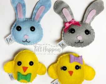 Easter Plush, Handmade, Easter Bunny Chick, Easter Basket, Candy Holder, Party Favor, School Gift, Class Gift, Gift By Hand