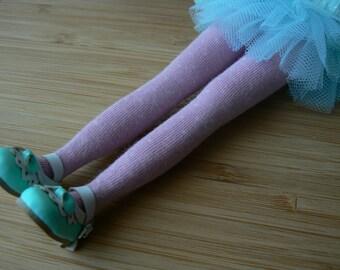 Blythe socks Pink & white dots Over the knee Socks Blythe clothes