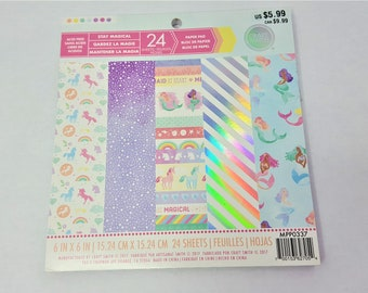 Stay Magical 6x6 Paper Pad by Craft Smith 24 sheets
