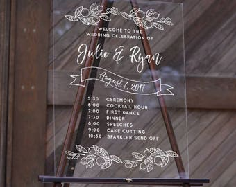 Acrylic Wedding Sign - Wedding Decoration - Custom Options