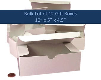 12 White Favor Boxes DIY Party Favor Box Baby Shower Boxes 12 Wine Glass Boxes 12 Party Favor Boxes Bridesmaid Gift Box Flutes Gift Box