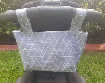 Stroller Simple Caddy Bag - Cross over Triangles