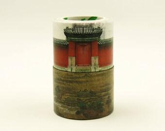 Forbidden City - Japanese Washi Masking Tape Set - 30mm wide - 7.6 yard - 2 rolls