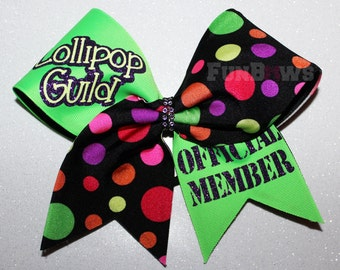 Oz Lollipop Guild Cheer Bow  by FunBows !!