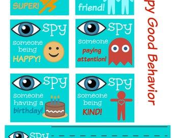 I Spy Good Behavior Downloadable - Turquoise, Teacher Help, Classroom, Kindergarten, Preschool