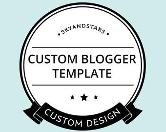PREMIUM Custom Blogger Template - Custom Blog Design - One of A Kind Blog Template - Custom Blog Template - Blogger Template