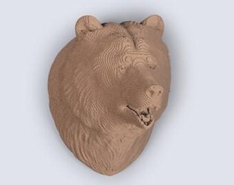 Grizzly Bear Head Trophy    - DIY Cardboard Craft