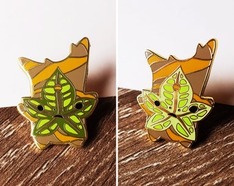 Star Leaf Korok Hard Enamel Pin - BoTW - Gold Plated Lapel Pin
